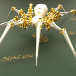 3d-blender-cycles-golden-mechanical-spider-mrhd