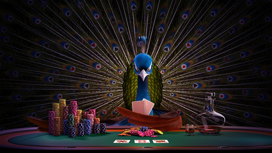 3d-cinema4d-peacock-pokerking-martijn-korstanje-kingcoma