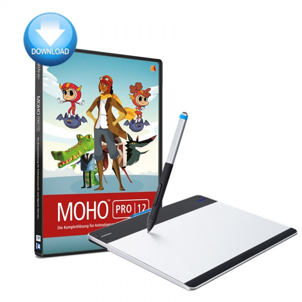 Moho Pro + Intuos Tablett Bundle