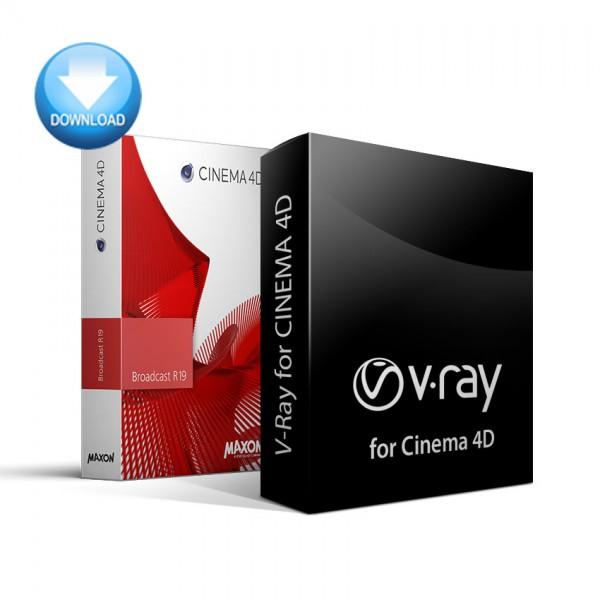 CINEMA 4D Broadcast + V-Ray for C4D Bundle