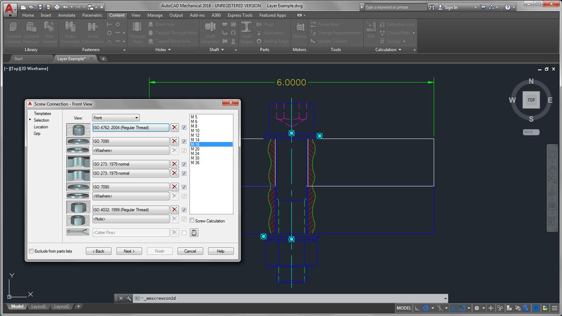 autodesk auto cad mechanical k standard parts features large