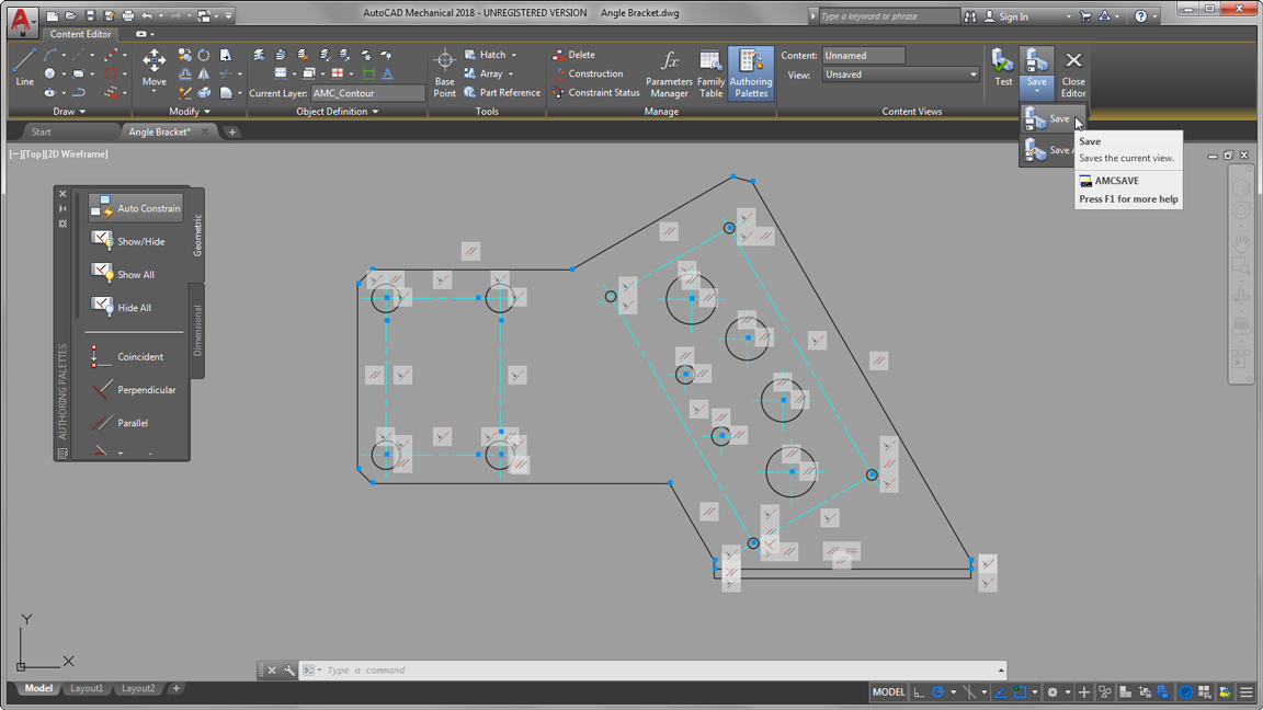 autodesk auto cad mechanical custom content library publishing large