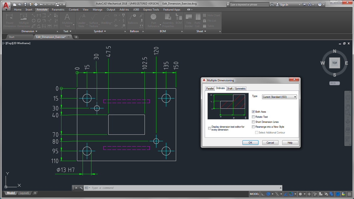 autodesk auto cad mechanical smart mechanical engineering dimensions large