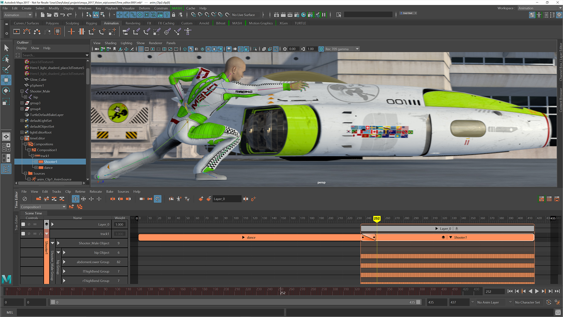 autodesk maya animation workflow large